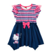 Hello Kitty® Short-Sleeve Print Tunic Top - Girls 4-6x