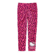 Hello Kitty® Pink Leopard Print Leggings – Girls 4-6x