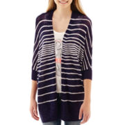 Arizona 3/4-Sleeve Cocoon Striped Cardigan