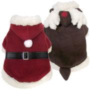 FouFou Dog™ Reversible Santa & Reindeer Costume