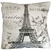 Idea Nuova Vintage Paris Linen Decorative Pillow
