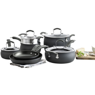 jcpenney.com | Epicurious® 11-pc. Hard-Anodized Nonstick Cookware Set