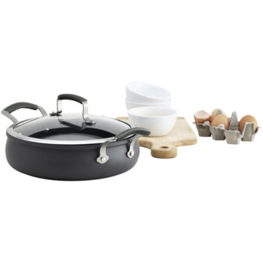 jcpenney.com | Epicurious® 4-qt. Hard-Anodized Sauteuse with Lid