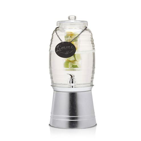 Sedona Rustic Beverage Dispenser With Chalkboard