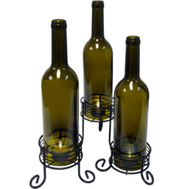 jcpenney.com | Epicureanist™ Set of 3 Wine Bottle Tealight Candle Holders