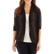 a.n.a® 3/4-Sleeve Textured Cocoon Cardigan