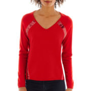 a.n.a® Long-Sleeve Side Sequin Sweater