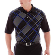 PGA TOUR® Argyle Piqué Polo–Big & Tall