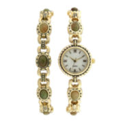 Womens Marcasite Watch and Bracelet Set