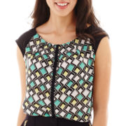 Worthington® Short-Sleeve Pleated Blouse