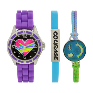 jcpenney.com | Total Girl Girls Purple Watch Boxed Set-Ttg1002jc