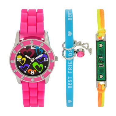 jcpenney.com | Total Girl Girls Pink Watch Boxed Set-Ttg1005jc