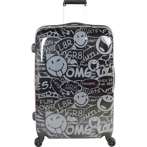 Smiley World Stealth 26 Inch Hardside Luggage