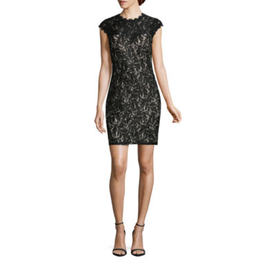 jcpenney.com | My Michelle Short Sleeve Sequin Bodycon Dress-Juniors