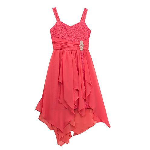 Rare Editions Sleeveless Fit & Flare Dress - Big Kid Girls