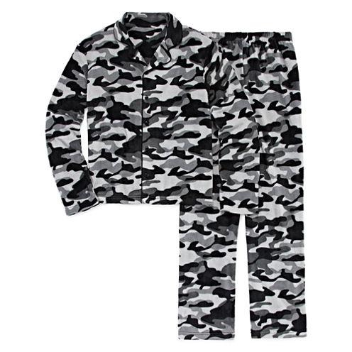 Jelli Fish Kids Boys Camo Pajama Set-Big Kid