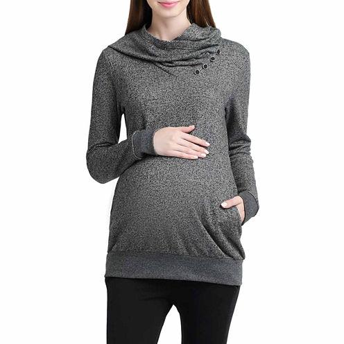 Momo Baby Ella Long Sleeve Pullover Sweater-Maternity