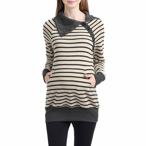 Momo Baby Mika Long Sleeve Pullover Sweater-Maternity