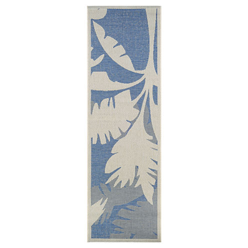 Couristan® Coastal Floral Indoor/Outdoor Rectangular Runner Rug