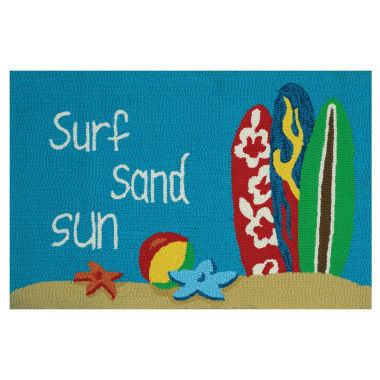 jcpenney.com | Couristan Surf Sand Sun Hooked Rectangle Accent Rug