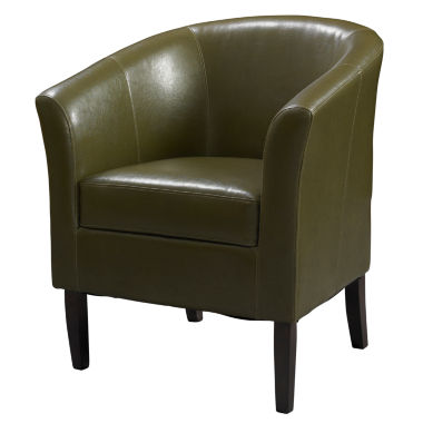 jcpenney.com | Simon Cedar Faux Leather Barrel Chair