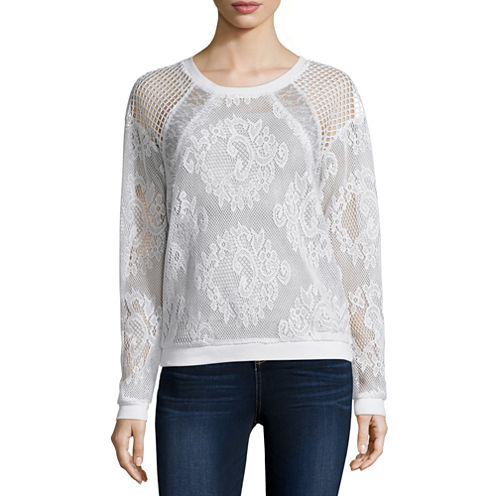 i jeans by Buffalo Long Sleeve Round Neck T-Shirt-Womens