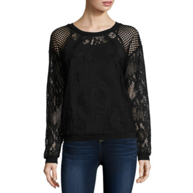 jcpenney.com | i jeans by Buffalo Long Sleeve Round Neck T-Shirt