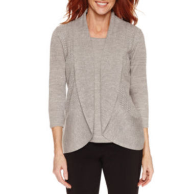 jcpenney.com | Sag Harbor 3/4 Sleeve Layered Sweaters