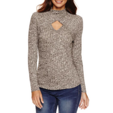 jcpenney.com | Bisou Bisou Rib Knit Keyhole Top