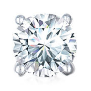 3/4 CT. Single Round Diamond Stud Earring 10K White Gold