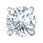 1/4 CT. Single Round Diamond Stud Earring 10K White Gold