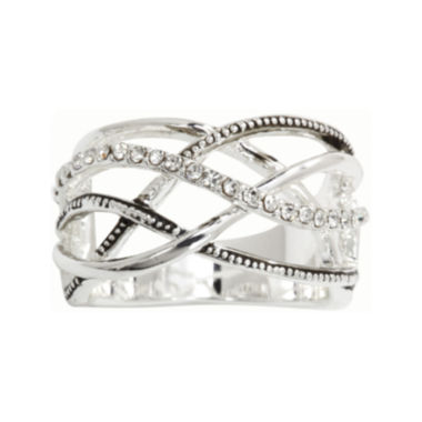 jcpenney.com | city x city® Clear Crystal Crisscross Ring