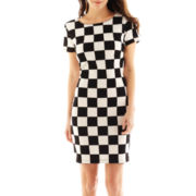 Bisou Bisou® Checked Scoopneck Dress
