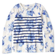 Joe Fresh™ Floral Striped Tee - Girls 4-14