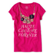 Joe Fresh™ Graphic Tee with Necklace – Girls 4-14
