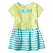 Okie Dokie® 3D Flower Dress - Girls 12m-6y