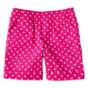 Okie Dokie® Poplin Cuffed Shorts - Girls 12m-6y