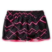 Xersion™ Black Zigzag Running Shorts - Girls 6-16 and Plus