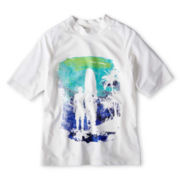 Arizona White Surfs Up Graphic Rashguard - Boys 6-18