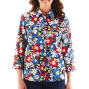 Alfred Dunner®Secret Garden Floral Print Shirt