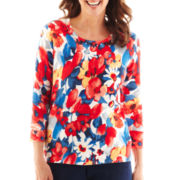 Alfred Dunner® Secret Garden Floral Print Sweater