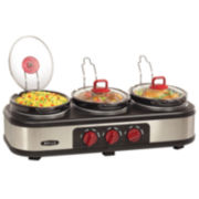 Bella™ 3x1.5-qt. Triple Slow Cooker with Lid Rests