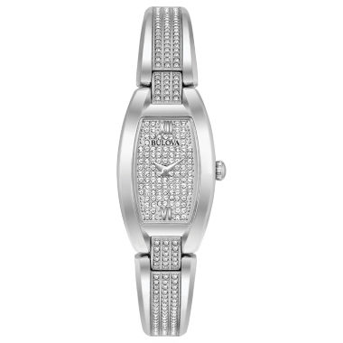 jcpenney.com | Bulova Crystal Accent Womens Silver Tone Bracelet Watch-96l235
