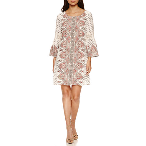 Luxology Long Sleeve Shift Dress