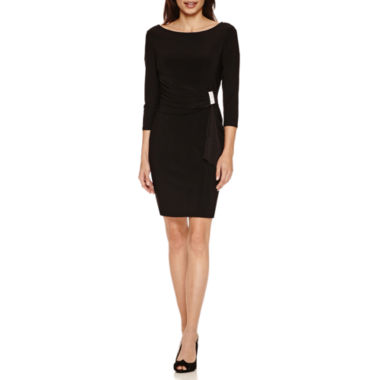 jcpenney.com | Blu Sage 3/4 Sleeve Jewel Cascade Sheath Dress-Petites