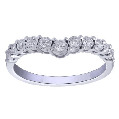 jcpenney.com | 1/4 CT. T.W. Round White Diamond 10K Gold Engagement Ring