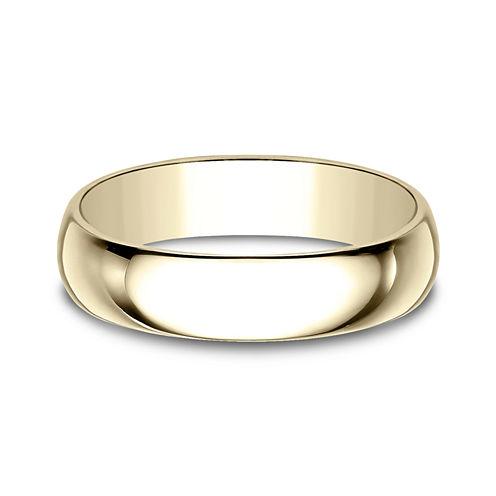 Mens 5mm 18K Yellow Gold Wedding Band