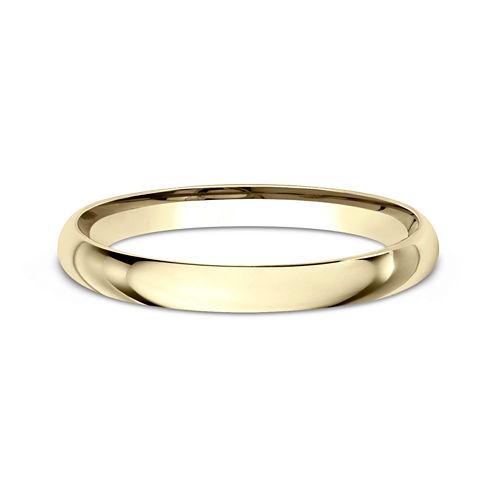Womens 14K Yellow Gold 2MM Light Comfort-Fit Wedding Band
