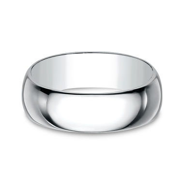 jcpenney.com | Men's 10K White Gold 8MM Traditional Wedding Band