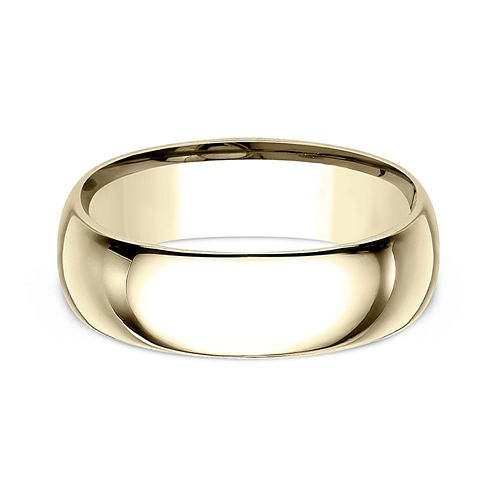 Mens 18K Yellow Gold 8MM Comfort-Fit Wedding Band